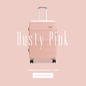 Dusty Pink Luna-Air Hardside Spinner Suitcase